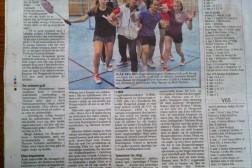 Helsides artikkel om badmintongruppa i Akers avis