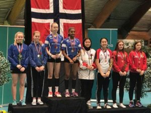 Aimee og Therese, bronse i  damedouble