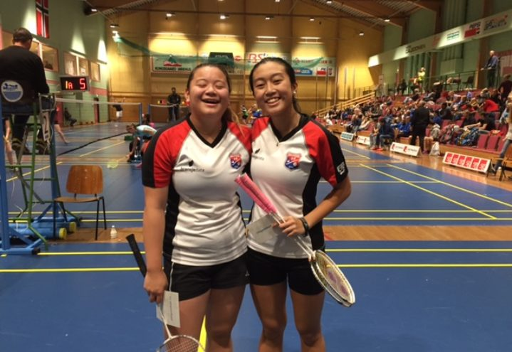 Therese og Aimee til topps i damedouble U17 under Kristiansand ranking